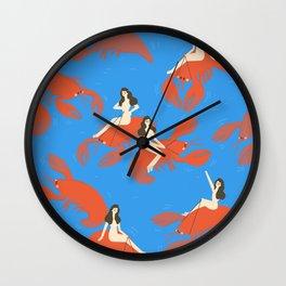 Want some Seafood, mama! Wall Clock