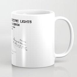Edison electric light patent Coffee Mug