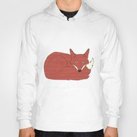 mr fox Hoodies featuring Mr. Fox by Elephant Trunk Studio