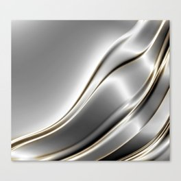 Smooth Silver, gold Canvas Print