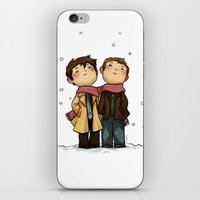 destiel iPhone & iPod Skins featuring Advent Destiel by Ravenno