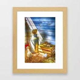 Cat and the Churn 2 Framed Art Print