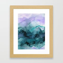 Dream away abstract watercolor Framed Art Print