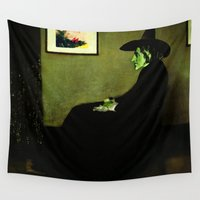 mother Wall Tapestries featuring Wizzler's Mother  |  Wicked Witch by Silvio Ledbetter