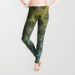 Forest Lake. sacred geometry. seamless pattern Leggings