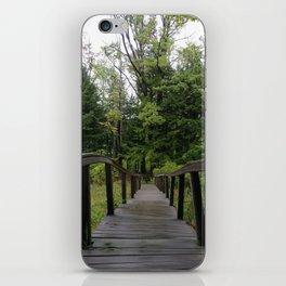 Twisted Wooden Bridge iPhone Skin