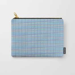 Zig Zag on Blue Carry-All Pouch