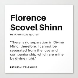 75    | Florence Scovel Shinn Quotes | 200126 Canvas Print