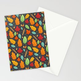 Happy Autumn pattern Stationery Cards