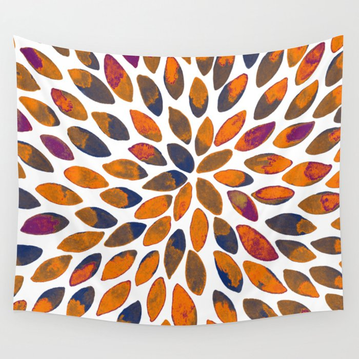 Watercolor brush strokes - rusty effect Wall Tapestry