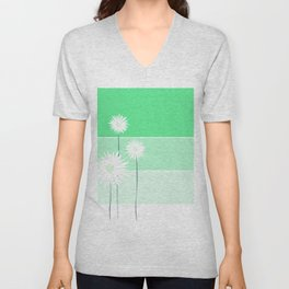 simple flowers - teal Unisex V-Neck