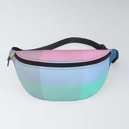 Colorful Pixel Patchwork Fanny Pack