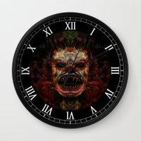 demon Wall Clocks featuring Demon by Zandonai