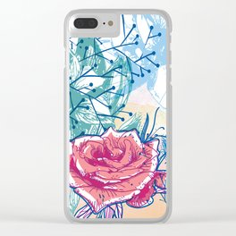 Blossoming rose Clear iPhone Case