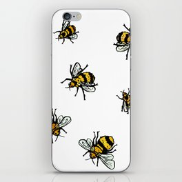 Just Some Beez A - White iPhone Skin