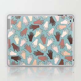 Nail Expert Studio - Colorful Manicured Hands Pattern Laptop & iPad Skin