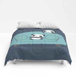 Kawaii Cute Pandas Comforters