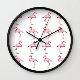 Flamingos #6 Wall Clock