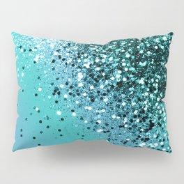 Aqua Blue OCEAN Glitter #1 #shiny #decor #art #society6 Pillow Sham