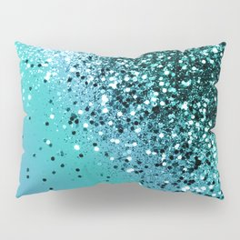 Aqua Blue OCEAN Glitter #1 #shiny #decor #art #society6 Pillow Sham