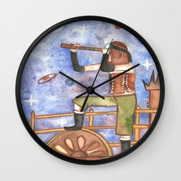 Star horizon Wall Clock