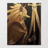 black and gold Canvas Prints featuring Black & Gold by Cruz'n Creations