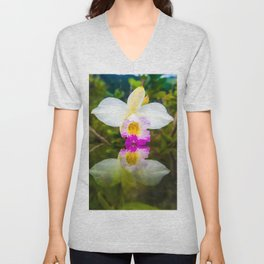 Orchid Reflections Unisex V-Neck