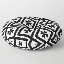 Geometric Squares - Black + White Floor Pillow
