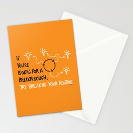 Break Your Routine Stationery Cards
