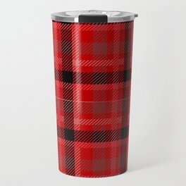 Red And Black Plaid Flannel Travel Mug