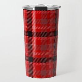 Red And Black Plaid Flannel Travel Mug