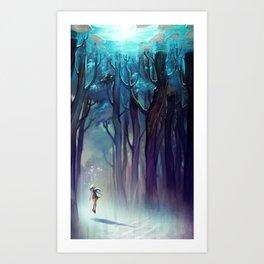 AquaForest Art Print