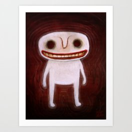Smily Ghost Art Print