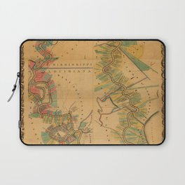 Map of Mississippi River 1858 Laptop Sleeve