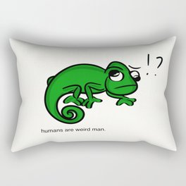 humans are weird (chameleon) Rectangular Pillow
