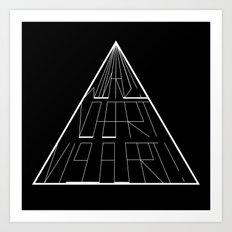 Wizard No Heart Logo Art Print