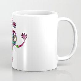 Pink Neon Marie Laveau Veve Sigil Coffee Mug