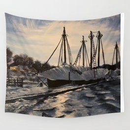 Sunrise in Maine Wall Tapestry