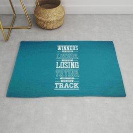 Lab No. 4 Winners Lose Much More Matthew Keith Groves Motivational Quote Rug