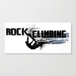 Rock Climbing - Male Canvas Print