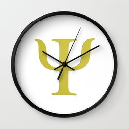 Colorful greek aplhabet. Psi Wall Clock