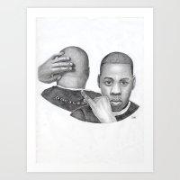 Jay-Z Portrait Art Print