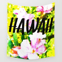 hawaii Wall Tapestries featuring Hawaii by mattholleydesign