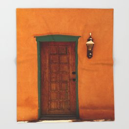 A Santa Fe  Door Throw Blanket