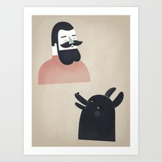 talk to me, wolf! Art Print