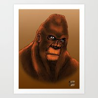 sasquatch Art Prints featuring Sasquatch by Luke Kegley