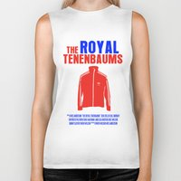royal tenenbaums Biker Tanks featuring The Royal Tenenbaums Movie Poster by FunnyFaceArt
