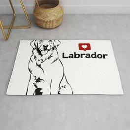 Golden Retriver Labrador Dog Portrait Vector Rug