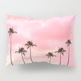 Palm Trees Photography | Hot Pink Sunset Pillow Sham