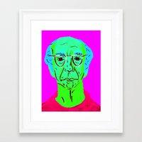 larry david Framed Art Prints featuring Larry David 5 by Alyssa Underwood Contemporary Art